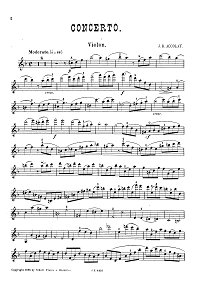Accolay - Violin concerto d-moll - Instrument part - First page