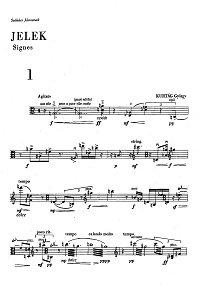 Kurtag - Signes for viola solo op.5 (Jelek) - Instrument part - first page