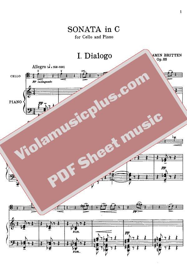 Britten cello sonata pdf converter