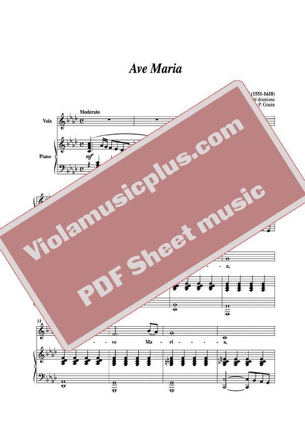 Piano ave maria sheet music piano : Caccini - Ave Maria for violin | Violin Sheet Music