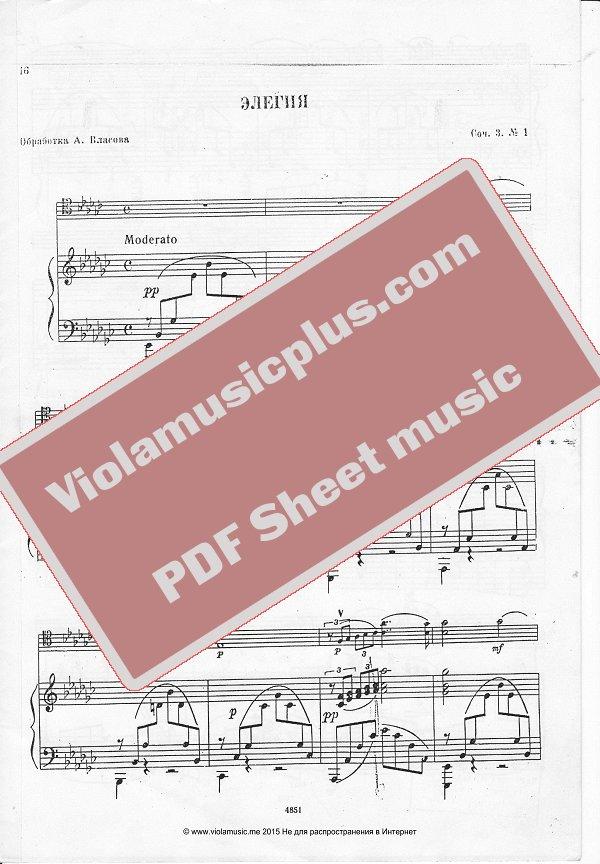 All Music Chords rachmaninoff sheet music : Rachmaninov - Elegia for cello and piano | Cello sheet music