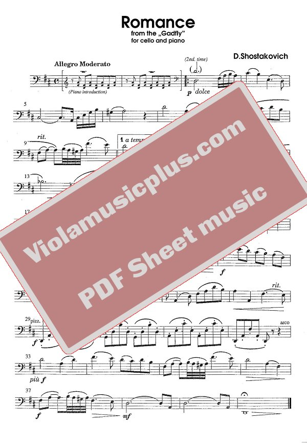 the gadfly clarinet sheet music pdf download