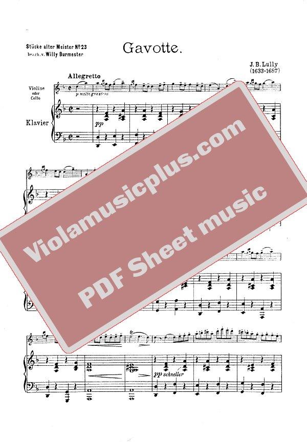 GAVOTTE LULLY PDF DOWNLOAD